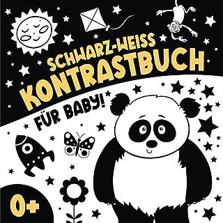 Schwarz Weiss Kontrastbuch fuer Baby: Mein Ertes Kontrastkarten Buch I Montessori Spielzeug fuer Neugeborene I Schwarz Wei...