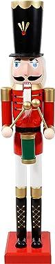 Sunnydaze Indoor Christmas Traditional Wooden Nutcracker Decor Statue Noah The Harmonious - Interior Winter Holiday Decorativ