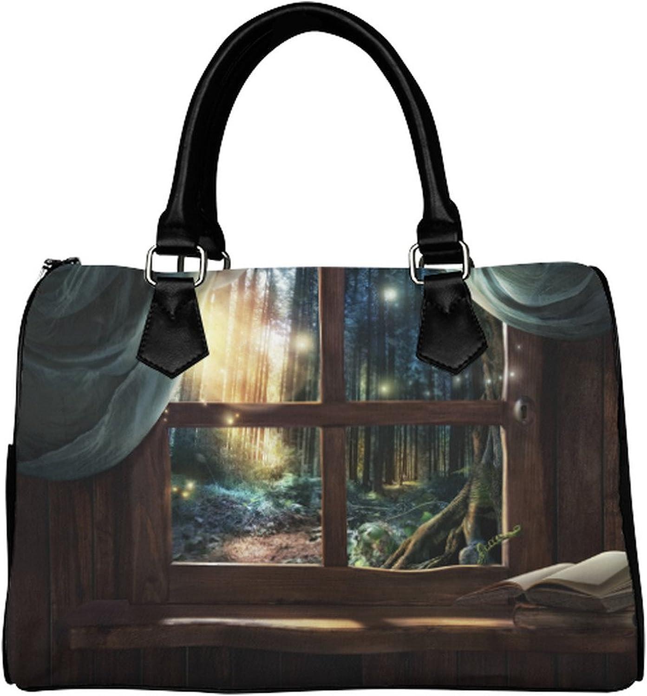 Yourfantasia Magic Window with Fairy Forest Boston Bag Handbag