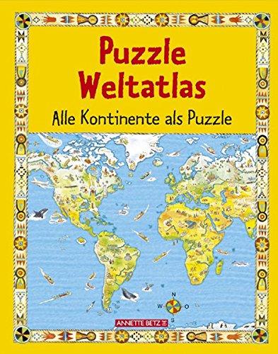 Puzzle Weltatlas: Alle Kontinente als Puzzle