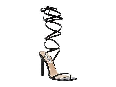 Steve Madden Uplift Heeled Sandal (Black Patent) Women
