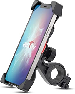 Bike Phone Mount Grefay Universal Bicycle/ Motorcycle Cell Phone Holder Smartphone Cradle Clamp 360° Rotatable for iPhone ...