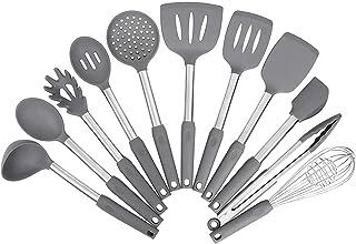 Sponsored Ad - Kitchen Utensil Set,Silicone Cooking Utensils,Stainless Steel Kitchen Utensils Set,Silicone Spatula Set Ute...
