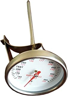 BBQ funland Replacement Thermometer for BIG Green Egg, Grill Dome, Kamado Replacement Thermometer, 1.75 inch dial, 5 inch stem