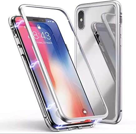 GadgetsWale 100% Electronic Auto-Fit Magnetic Glass Case for iPhone X Case (White)