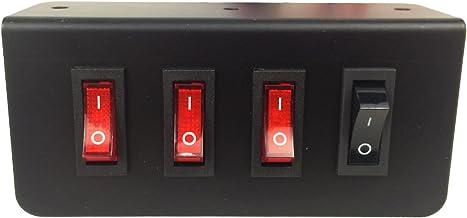 Abrams Taurus Premium 12V Switch Box Panel – (3) ON/OFF Rocker Switch with LED..