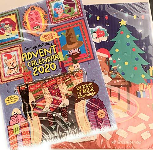 Trader Joe's 2020 Milk Chocolate Christmas Advent Calendar (Pack of 2...