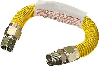 Flextron FTGC-YC14-18F 45 cm elastyczne złącze przewodu gazowego pokryte epoksydową o średnicy zewnętrznej 3/8 cala i złąc...