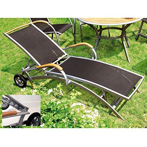 MERXX Sonnenliege Siena aus Aluminium mit Textilbespannung, verstellbar