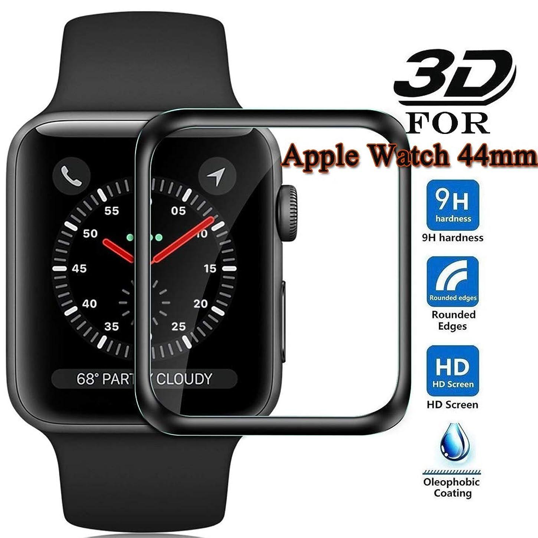 繊細特異な子供っぽいApple Watch 44mm フィルム 3D全面保護 Apple Watch Series 4 フィルム 硬度9H 気泡レス 高透過率 アップルウォッチ 4 保護 フィルム Apple Watch Series 4 44mm ガラスフィルム