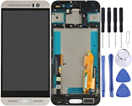 JIJIAO Repair Replacement Parts LCD Screen and Digitizer Full Assembly with Frame for HTC One M9+ / M9 Plus(Black) Parts (Color : Silver)