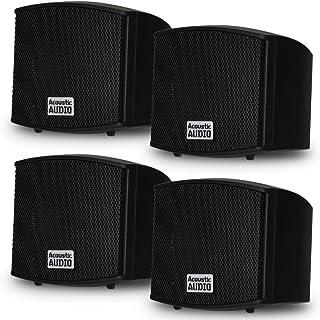 Acoustic Audio AA321B Mountable Indoor Speakers 800 Watts Black 2 Pair Pack AA321B-2Pr