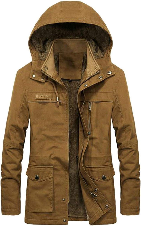 55a7aa1e29312 XiaoTianXinMen XTX Men's Hooded Outwear Fleece Lined Winter Thicken Thicken  Thicken Parka Coat Jacket effff7