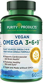 "Omega 3-6-9 Vegan and Vegetarian Omega Formula - ""5 in 1"" Essential Fatty Acid Complex - Scientifically Formulated Plant-B..."