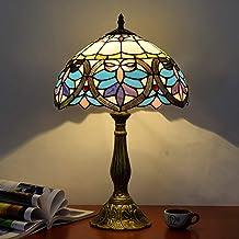 ETH European Retro Table Lamp Love Tiffany Style Art Glass Bar Restaurant Bedroom Bedside Lamp Table Light 30 * 49cm Quality