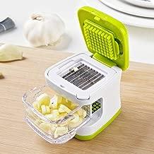 Momugs Garlic Press Portable Mini Creative 3-in-1 Garlic Cube Chopper Dicer - 2 Blades - Easy to Clean