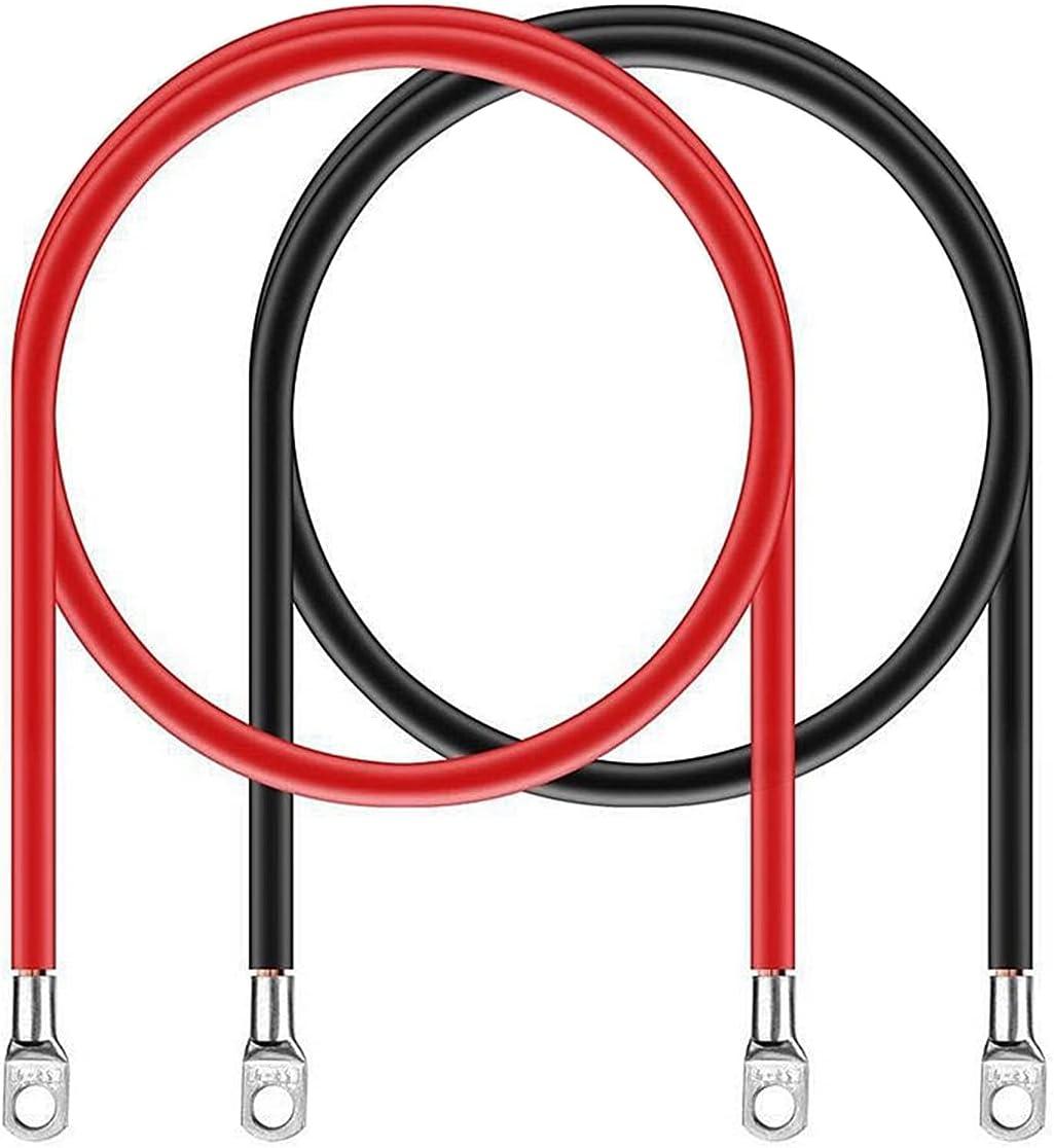 N\C 2 Pcs Cable de Encendido 16 mm² Calibre del Cable de La Batería Juego de Cables de Batería de Arranque Cables Inversores con Conectores para Baterías de Alimentación y Baterías de Tracción 5AWG