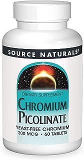 Chromium Picolinate Yeast Free 200mcg Source Naturals, Inc. 60 Tabs