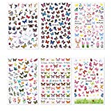WZHrb Mariposa Nail Art Themals Flower Marca Diseños Autoadhesivo Nails Art Pegatinas Decoraciones Accesorios 10 Shoils (Color : A)