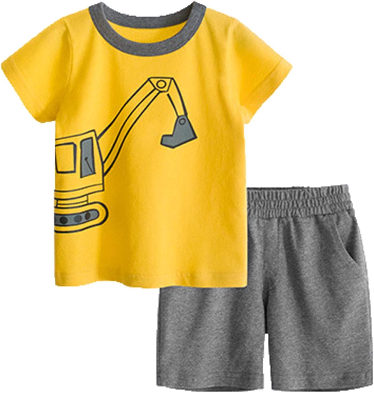 BTGIXSF Toddler Boys Cotton Clothing T-Shirt Max 50% OFF B Portland Mall Sets Shorts Set