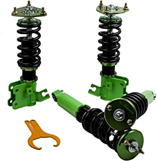 maXpeedingrods Coilovers Kits for Nissan S13 Silva/180SX/Sileighty/200SX/240SX 89-90 Coil Spring Suspension Strut Shock Absorber