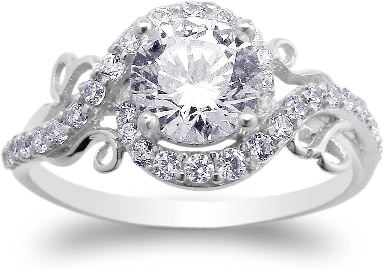 JamesJenny Austin Mall 925 Sterling Silver Artistic Siz CZ Animer and price revision Design Ring Round