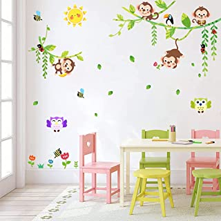 3861ig Details about  /Vinyl Wall Decal Crazy Cartoon Monkey Animal Children/'s Decor Stickers