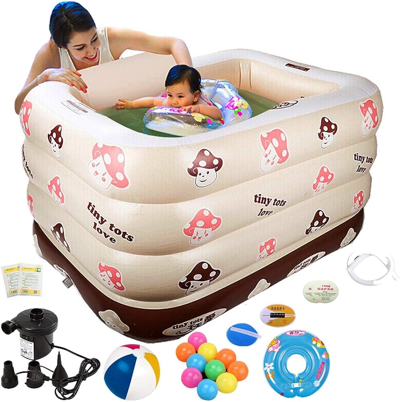 ZTSW Aufblasbarer Pool der Familienkinder Multifunktionsbadewanne-Baby-Wannen-Swimmingpool-Isolierungs-Wanne 120  105  75CM der groen Kapazitt