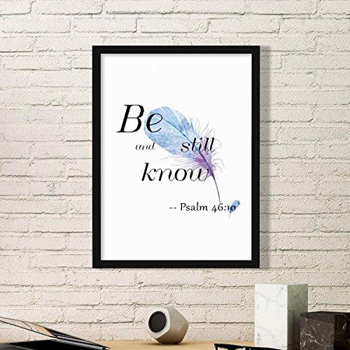 DIYthinker Be Still And Know Bijbel Citaat Lyrics Simple Picture Frame Art Prints Schilderijen Home Muursticker Gift