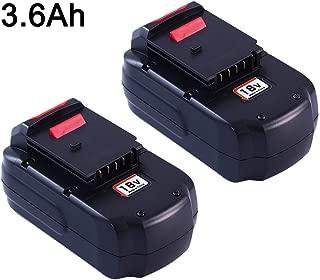 2 Pack 3600mAh PC18B Battery Replacement for Porter Cable 18V Battery PCC489N PC18BLEX PCMVC PCXMVC Cordless Power Tools Batteries