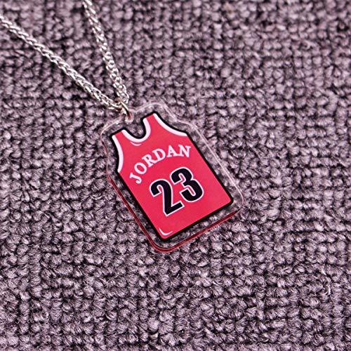 ANLW NBA All-Star Kobe Collar/Jordan // Antetokounmpo Colgante de acrílico sólido Cabeza Colgante de Hip Hop, Aficionados de la NBA de Baloncesto,Jordan