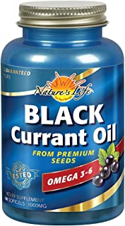 Nature's Life Black Currant Seed Oil 1000 mg | With Omega-3 ALA, Omega-6 GLA and Stearidonic Acid | 60ct, 60 Servings