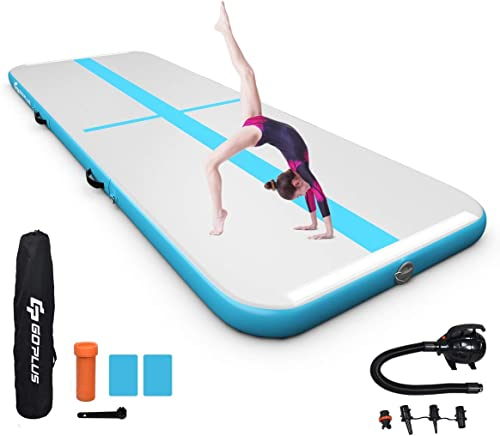 high quality Goplus Inflatable Air Gymnastic Mat, 10ft/13ft/15ft/16.4ft with Electric Pump, Portable Air Floor Track for Practice Gymnastics Tumbling Yoga Cheerleading Beach Park Water Home outlet sale and School new arrival Use sale