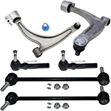 6 Pcs Suspension Kit-2 Lower Control Arm Ball Joint Assembly 2 Outer Tie Rod End 2 Sway Bar Compatible with Chevrolet Malibu 2004-2010/Pontiac G6 2005-2009/Saturn Aura 2007-2009 ES800086 K620180