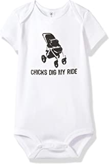 "Attitude Rompers""Chicks Dig My Ride"" Baby Romper Onesie"