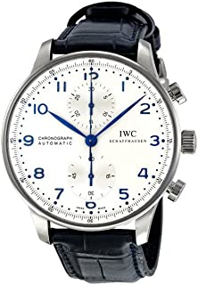 IWC Men's Rose Swiss Automatic Watch with Gold Tone Stainless Steel Strap, Black (Model: IW371446)
