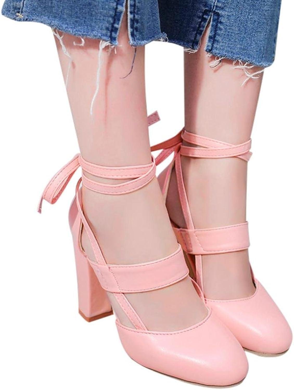 Fheaven Women's Heeled Sandals Ankle Strap Dress Sandals Party Wedding shoes Pump Beige