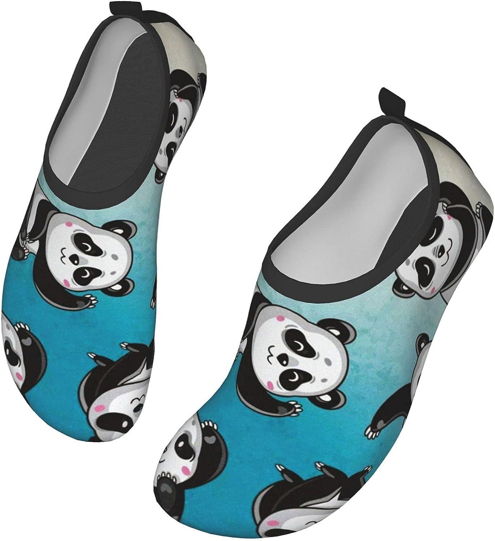 WFYZIYZL Water Shoes Women's Men's Cartoon Kawaii Panda Barefoot