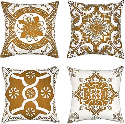 Bedruckter Kissenbezug für Sofa, dekorativer Kissenbezug, Geschenkidee, Haushalts-Kissenbezug, mit Reißverschluss, zum Verschönern Ihrer Couch, Sofa, 45,7 x 45,7 cm, weich – nur Bezug