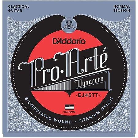 D'Addario EJ45TT - Juego de cuerdas clásica, Transparente