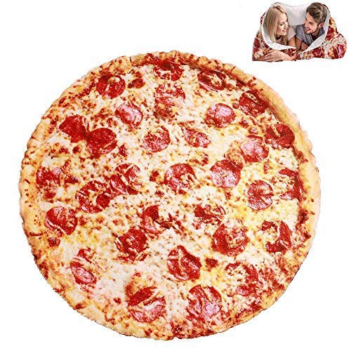 YANGDD Manta de pizza redonda para comida Burrito Tortilla, manta gigante Burritos humanos envolver, divertida toalla de playa para adultos, niños, bebé, cama, oficina, viajes, regalo, 200 cm