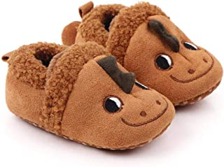 TheYouth Baby Cotton Shoes Kids Home Boot Boys and Girls Baby Cute Cartoon Warm Shoes Boys Girls Thickening First Walkers