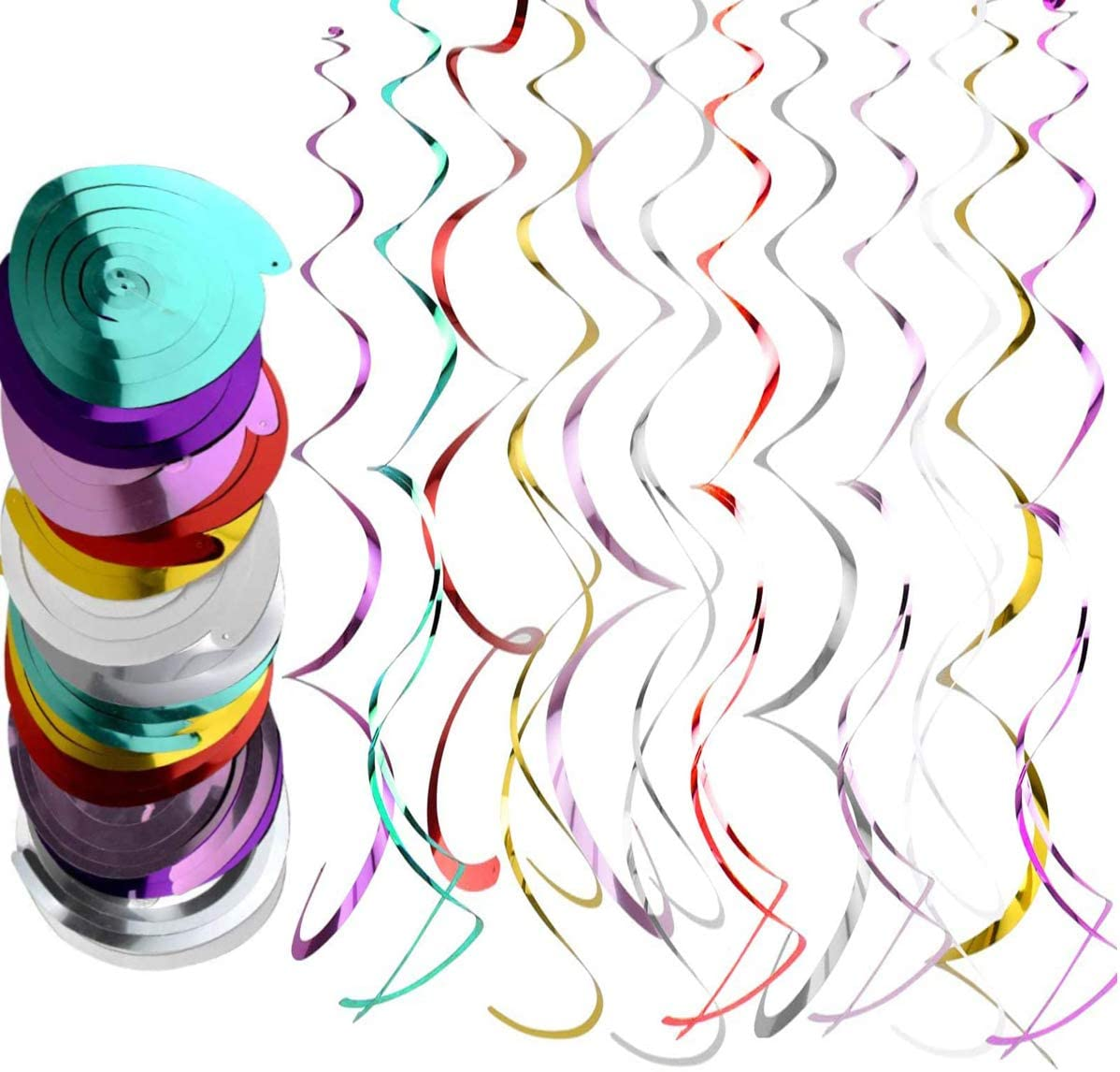 18 PCS Now free shipping Multicolor Hanging Swirl sold out Party Decorations Stream Spiral