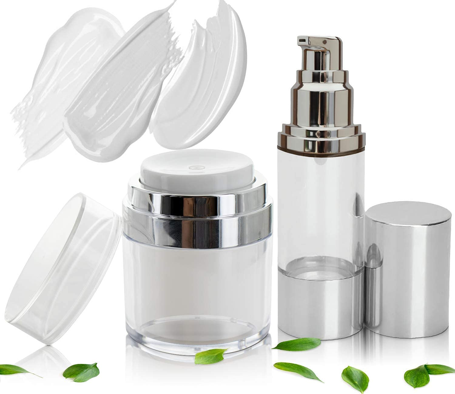 Best Empty Airless Pump Max 51% OFF Container Oakland Mall Set Cosmetic oz - 1 1.7