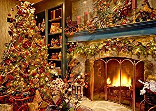 Holiday Greeting Cards - Home For The Holidays - HFTH100. Greeting Cards Featuring a Christmas Tree and Cozy Fireplace. Box Set Has 25 Greeting Cards and 26 Holiday Red Envelopes.
