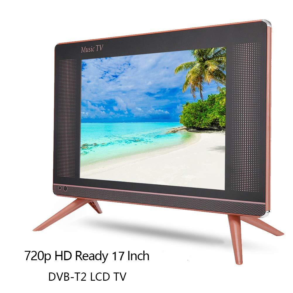 Bewinner Televisor LCD Digital portátil HD TV de 17 Pulgadas DVB-T2 con Mini televisor de resolución 1366x768 con Sonido de bajo Soporte de Calidad HDMI, USB, VGA, Conector TV/AV(UE): Amazon.es: Electrónica