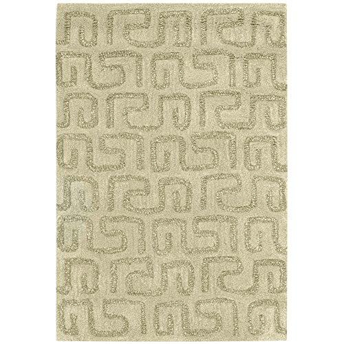 Safavieh Soho Collection SOH416D - Alfombra de lana de primera calidad hecha a mano, color verde claro (2 x 3 pies)