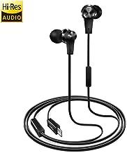 USB Type C Earphones (Hi-Res Audio & DAC Chipset) Earbud Headphone w/Mic for Google Pixel 3/2/XL, New iPad Pro/MacBook/Pro/Air, Moto Z, Xperia XA2/XZ2, HTC U12/U11, LG V40/V30, Essential, Razer Phone