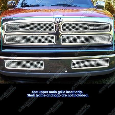 ZMAUTOPARTS For Dodge Ram 1500 2500 3500 Upper Stainless Steel Mesh Grille Insert Chrome