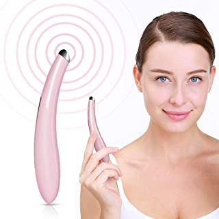 TOUCHBeauty Sonic Eye Massager Wand with 104°F Heated & Sonic Vibration Massage for Eyes Dark Circles Puffiness, Mini Size Eyes Fatigue Relief Device FDA Certificated, Boost Product Absorption Pink 1